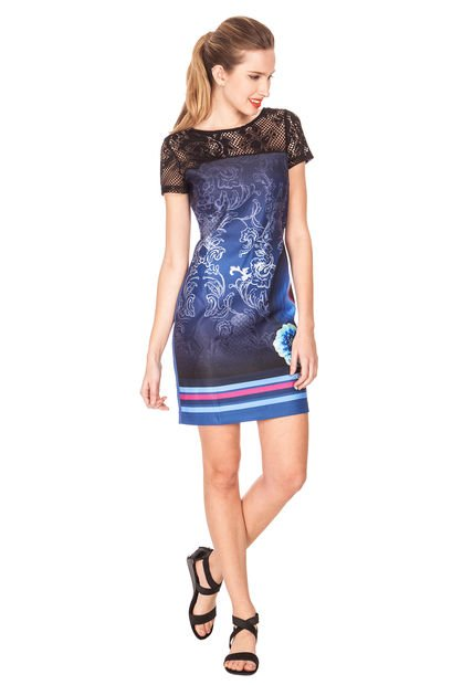 Vestidos De Baño Azul Rey:Vestido Desigual Lala Azul Rey – Compra Ahora