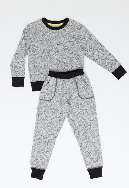 Pijama Largo Algodon Gris Kayser Compra Ahora Dafiti Chile