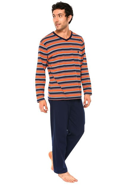 Pijama Hombre Algodon Azul Kayser Compra Ahora Dafiti Chile